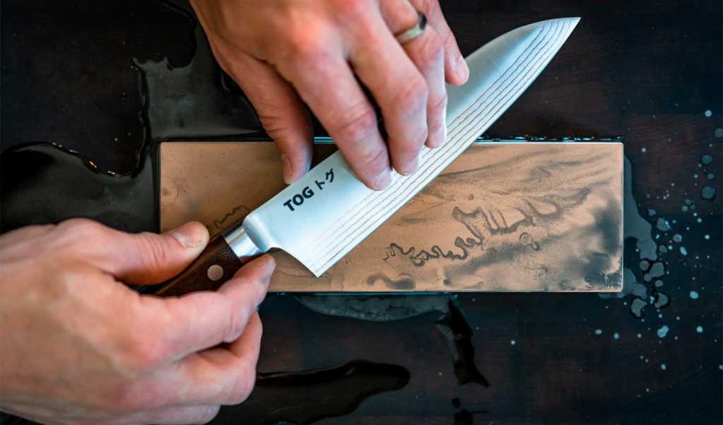 Sharpening Knife with Whetstone